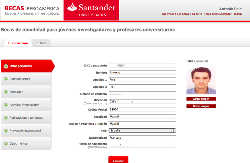 Interfaz Santander