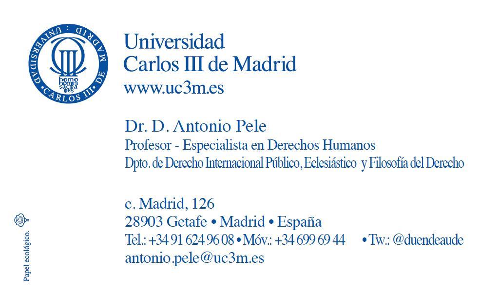 My new academic business card antonio pele human dignity my new academic business card colourmoves Choice Image